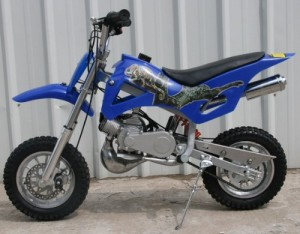 DB49A Blue 50CC 2-Stroke Gas Motor Mini Dirt Bike