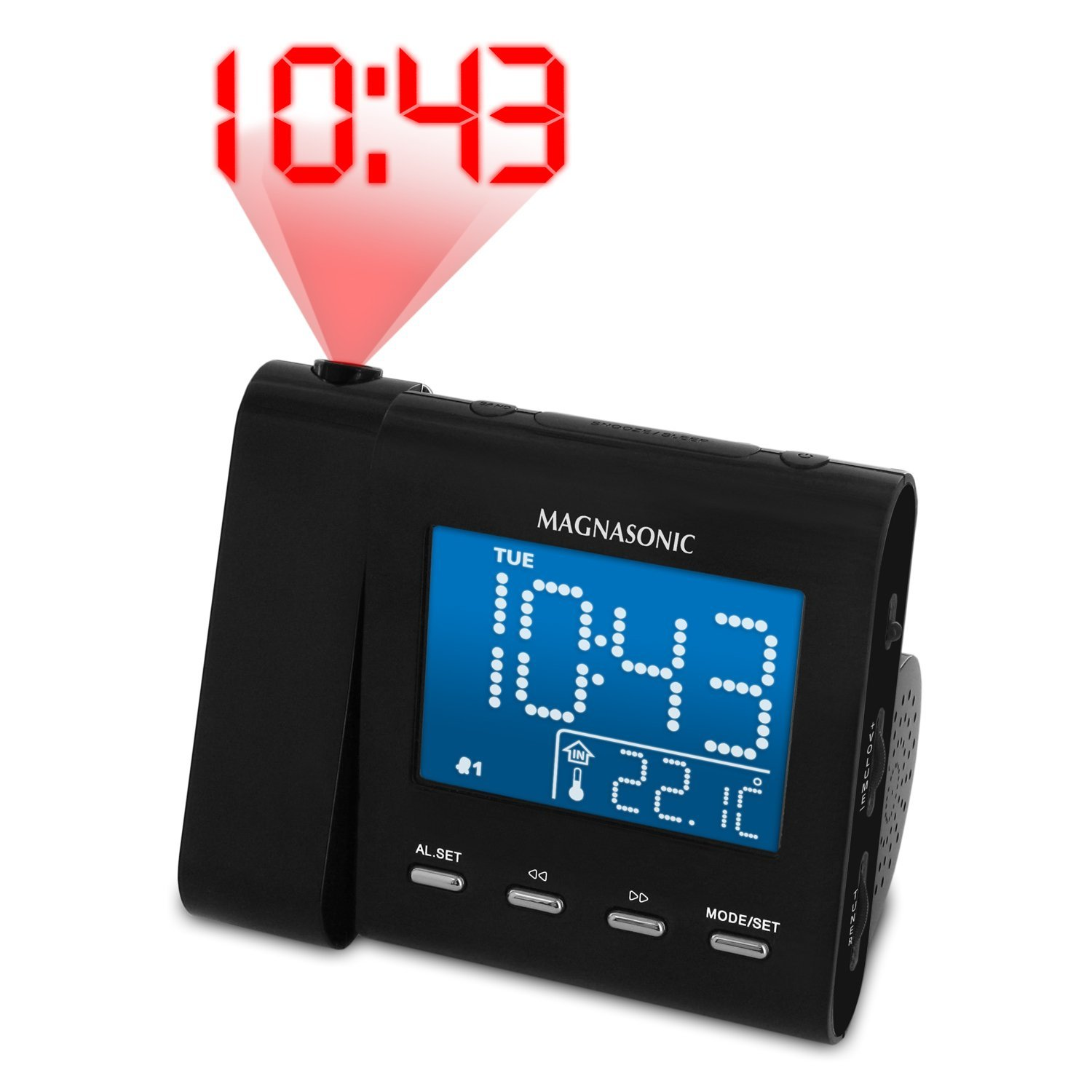 projection alarm clock with temperature Projection alarm clocks  616-143 projection alarm clock with indoor/outdoor temperature  projection alarm clock indoor temperature and humidity.