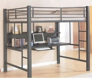 Coaster Fine Furniture 460023 Loft Bed with Workstation