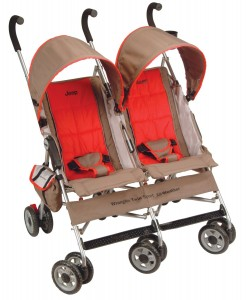 Jeep Wrangler Twin Sport All-Weather Umbrella Stroller