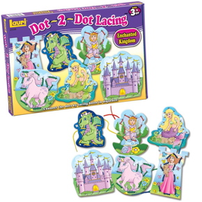 Lauri Toys Dot-2-Dot Lacing Enchanted Kingdom
